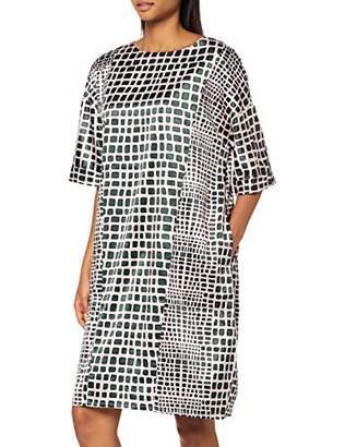 APART Fashion Women's Printed Satin Dress,12 (Size: )