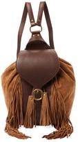 Frye Clara Fringe Leather & Suede Backpack