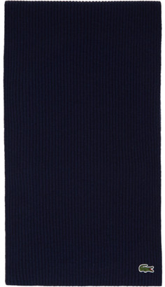 Lacoste Navy Wool Scarf