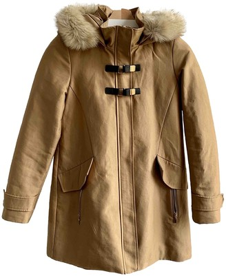 MANGO Camel Cotton Coat for Women