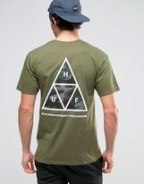 Huf T-shirt With Camo Triple Triangle Back Print