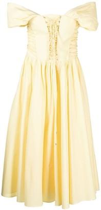 Philosophy di Lorenzo Serafini Lace-Up Cotton Dress