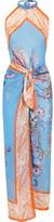 Etro Printed silk-chiffon beach dress