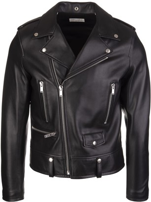 Saint Laurent Black Leather Man Motorcycle Biker