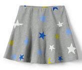 Classic Girls Pattern Knit Skort-Gray Heather Stars