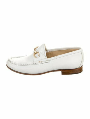 Gucci Horsebit Accent Leather Loafers White