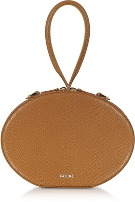 Cafuné Caramel Leather Egg Bag