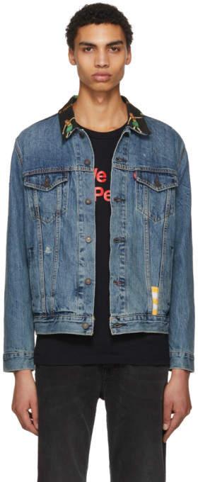 Levi's Levis Blue Denim Hula Collar Trucker Jacket