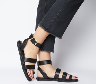 Office Sunny Rope Sole Sandals Black