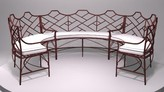 The Well Appointed House Chinese Chippendale Outdoor Sectional Set