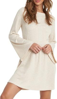 Roxy Strolling Through Ribbed Bell Sleeve Minidress