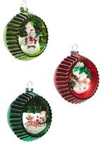 Christopher Radko Holiday Splendor Set Of 3 Glass Ornaments