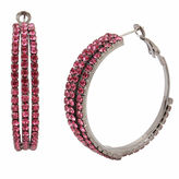 BLEU NYC Bleu NYC Pave Stone Coil Hoop Earrings
