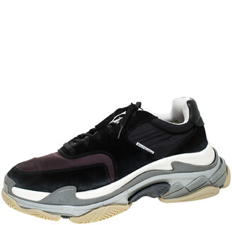 Balenciaga Multicolor Nylon, Leather And Suede Triple S Trainer Sneakers Size 45
