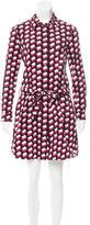 Diane von Furstenberg Long Sleeve Button-Up Dress