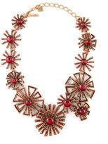 Oscar de la Renta Firework Link Necklace, Ruby Red