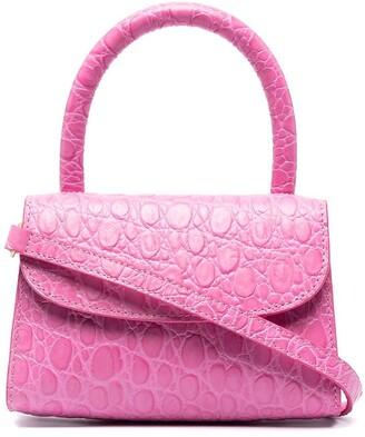 BY FAR Crocodile-Embossed Mini Bag
