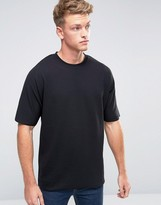 Jack and Jones Core T-Shirt in Oversized Fit with Raw Edge