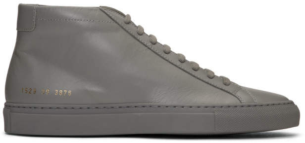 Common Projects Grey Original Achilles High Sneakers