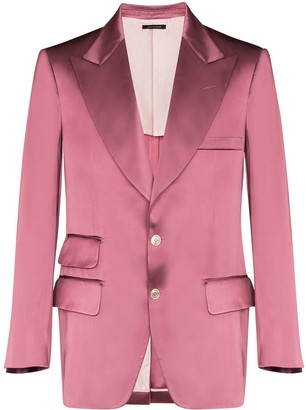Tom Ford Single-Breasted Satin-Effect Blazer