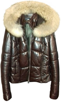 Ventcouvert Brown Leather Coat for Women