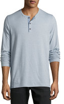 Vince Mouline Long-Sleeve Henley Shirt, Infinity Blue