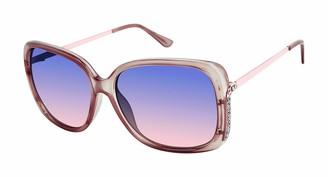 Tahari Women's TH780 Rectangular-Shaped Sunglasses with 100% UV Protection 60 mm