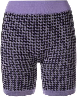 Suki houndstooth biker shorts