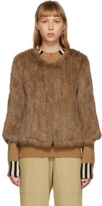 Yves Salomon Brown Fur Cropped Jacket