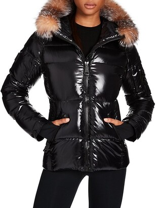 SAM. Blake Fur-Trim Puffer Down Jacket
