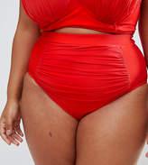 Asos Drape Front Supportive Bikini Bottom