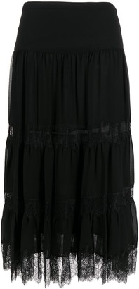 MICHAEL Michael Kors Tiered Lace Ruffle Skirt