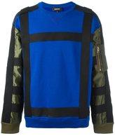 Diesel colour block sweatshirt