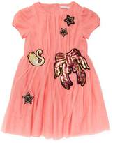 Little Marc Jacobs Swan, Stars & Ribbon Dress