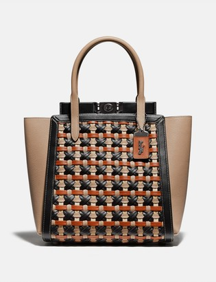 Coach Troupe Tote With Weaving