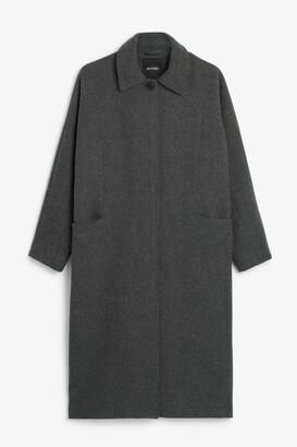 Monki Long tailored coat