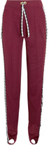 House of Holland Gingham Poplin-paneled Jersey Track Pants - Red