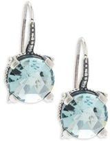Stephen Dweck 12MM Aqua Quartz & Sterling Silver Earrings