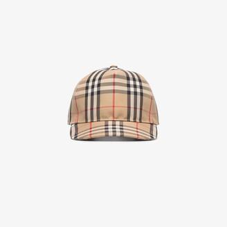 Burberry Beige Vintage Check Baseball Cap