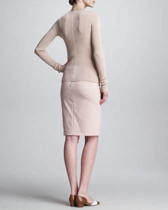 The Row Tubino Exposed-Zip Pencil Skirt