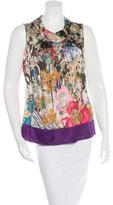 Etro Silk-Blend Floral Print Top