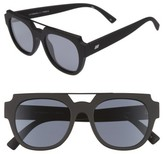 Le Specs Women's La Habana 52Mm Retro Sunglasses - Black Rubber