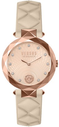 Versus Women's Swarovski Crystal Quartz 2-Hand Leather Strap Watch, 36mm
