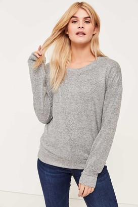 Ardene Brushed Sweater with Lace Back