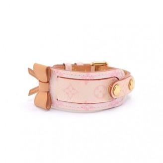 Louis Vuitton Pink Leather Bracelets