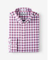 Express slim fit check performance dress shirt