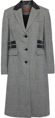 Altuzarra Annie Buckle-detailed Prince Of Wales Checked Wool-blend Coat
