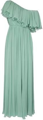 Giambattista Valli One Shoulder Ruffle Silk Gown