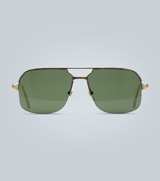 Cartier Eyewear Collection Aviator-style gold sunglasses