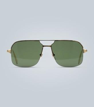 Cartier Eyewear Collection Aviator-style gold sunglasses